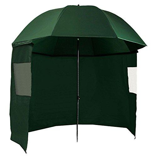 CampFeuer – Paraguas de Pesca Ø 240 cm I Arco Ø 300 cm I Clavijas I Bolsa de Transporte I Cuerdas Tensoras I Color Verde