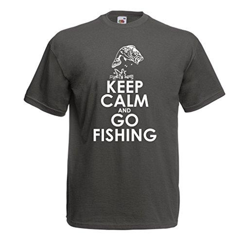 lepni.me Camisetas Hombre Ropa de Pesca Regalo Gracioso Pescador Citas de Humor (Large Grafito Multicolor)