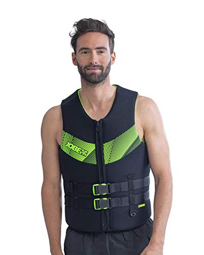 Jobe Traje de Neopreno de Neopreno para Hombre 50N Deportes acuáticos Waterski Jetski Wakeboarding Safety Impact Vest - Top - Negro Lime