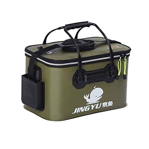Kongnijiwa EVA Plegable de múltiples Funciones Portable Maneja Cubo de Pesca para Que acampa yendo de Viaje