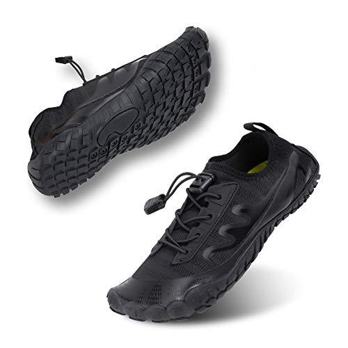 Zapatos de Agua Hombre Mujer Escarpines Secado Rápido Zapatillas Trail Running Transpirables Natación Piscina Playa Unisexo Negro E Reino Unido 42