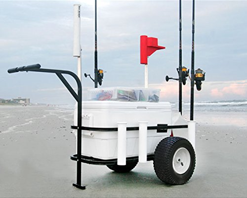 Mar Striker brsc-dlx Deluxe camino de playa pesca carro con ruedas neumáticas