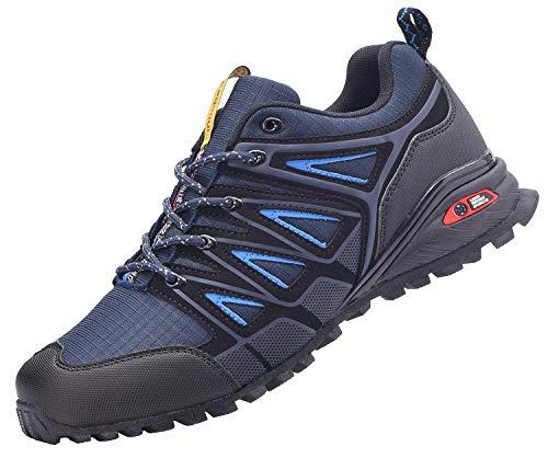 Zapatillas de Deportes Hombre Mujer Running Zapatos para Correr Calzado Deportivos Aire Libre Ligero Gimnasio Sneakers - Azul - 39 EU