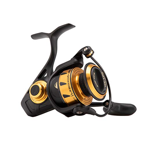 Penn Spinfisher Vi 4500 - Carrete Giratorio Unisex, Color Negro y Dorado, Talla única