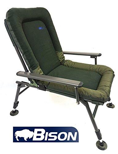 Bison Polaire Confort Chaise de camping pêche à la carpe