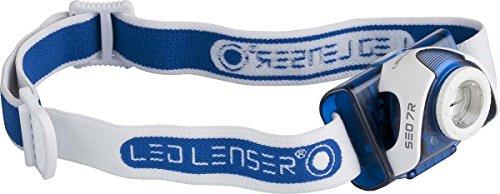 Zweibrueder Led Lenser SEO 7R - Linterna frontal, color azul