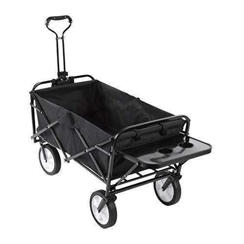 Zerone carrito de jardín plegable, carrito de mano plegable para jardín, carro de transporte plegable portátil