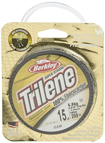 Berkley Trilene - Sedal de fluorocarbono para Pesca, Color Transparente, Talla 8 lbs/0.27 mm