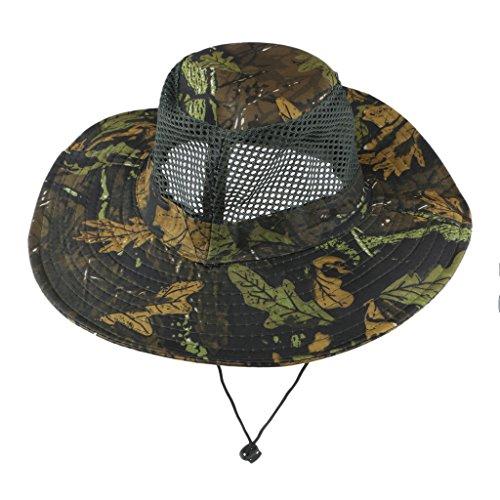 MagiDeal Sombrero de Pesca Viaje Al Aire Libre Camuflaje para Hombre - Azul profundo, como se describe