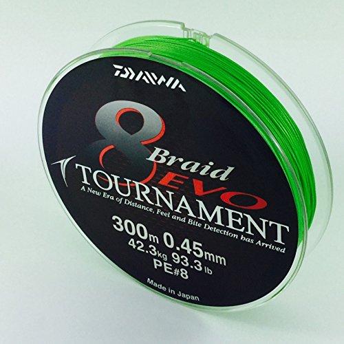 Daiwa Tournament 8Braid - Sedal para pescar trenzado de competición (300M).