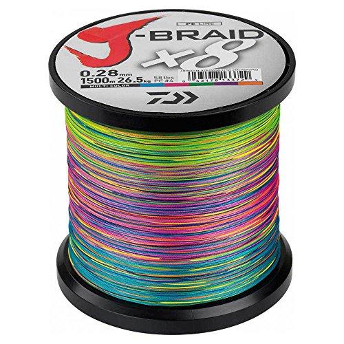 Daiwa - Jbraid 8 Braid 500, Color Multicolor, Talla 0.240 mm